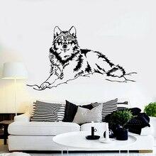 ig2071 Wall Sticker Vinyl Decal Wolf Animal Art Painting Artist Tribal Decor