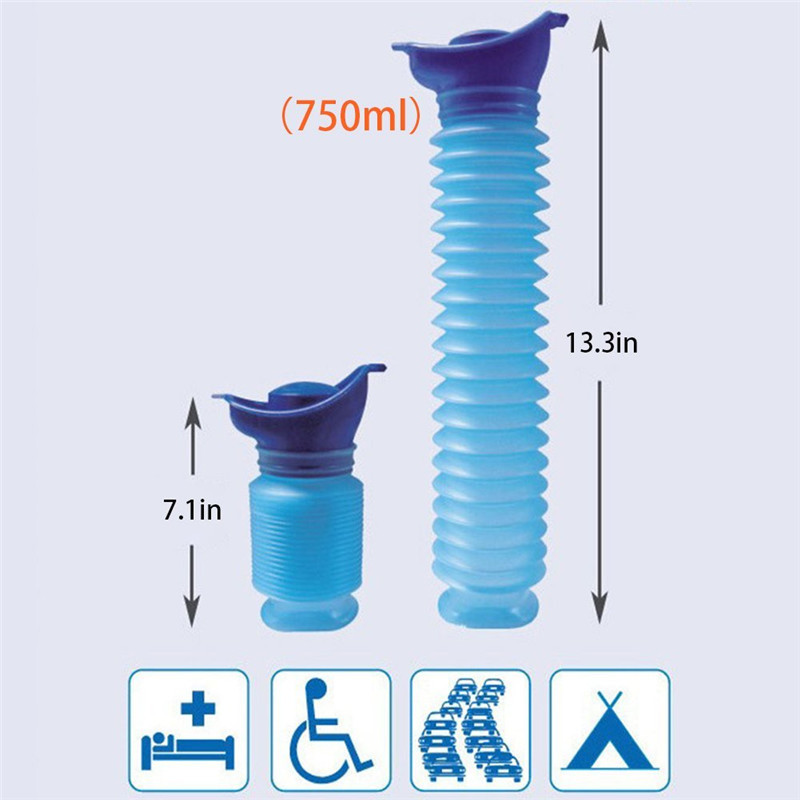 750ML Universal Car Emergency Urinal Tool Outdoor Portable Reusable Mini Toilet For Travel Camp Hiking Potty Children Training