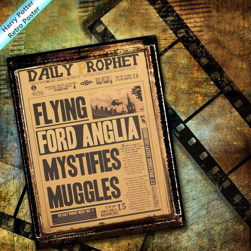 Decorative Painting Harri Potters Three Quarters Of The Platform Magic World Map Vintage Retro Poster Movie Harry Prop Supply