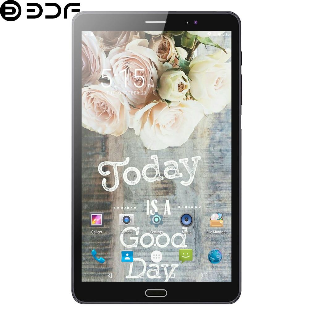 BDF 2020 New 8 Inch Tablet Pc 3G/4G LTE Phone Call SIM Card Android 6.0 Quad Core 1GB/32GB WiFi Bluetooth 1280*800 IPS HD Screen