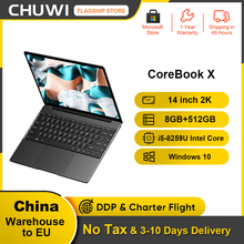 CHUWI CoreBook X 14inch Laptop 2160*1440 Resolution Intel Core i5-8259U 4 Cores 8GB RAM 512GB SSD Windows 10 Backlit keyboard