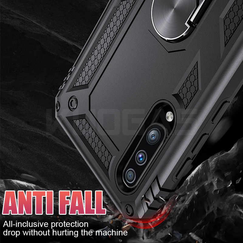 Роскошный автомобильный держатель кольцо ударопрочный чехол для samsung Galaxy A50 A10 A20 A30 A40 A60 A70 M10 M20 M30 M40 мягкий полное покрытие рамка чехол