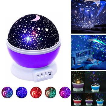 Starry Sky Rotatable Baby LED Night Light Projector Moon Lamp USB Child Bedroom Party Romantic Night Lighting Christmas Gift colorful starry sky projector night light rotation starry moon night lamp usb charging for birthday gift romantic baby children