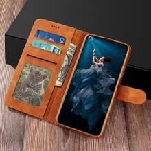 Luksusowe Etui do Huawei Honor 20 Pro pokrywy skrzynka odwróć magnetyczne zamknięcie skórzany uchwyt z portfelem zwykły telefon torba na Honor 20 20pro Etui