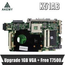 Upgrade 1GB VGA + Freies T7500 cpu Für For Asus K51AB K51AF K70AF K70AB K70AD Laptop motherboard Mainboard 100% OK