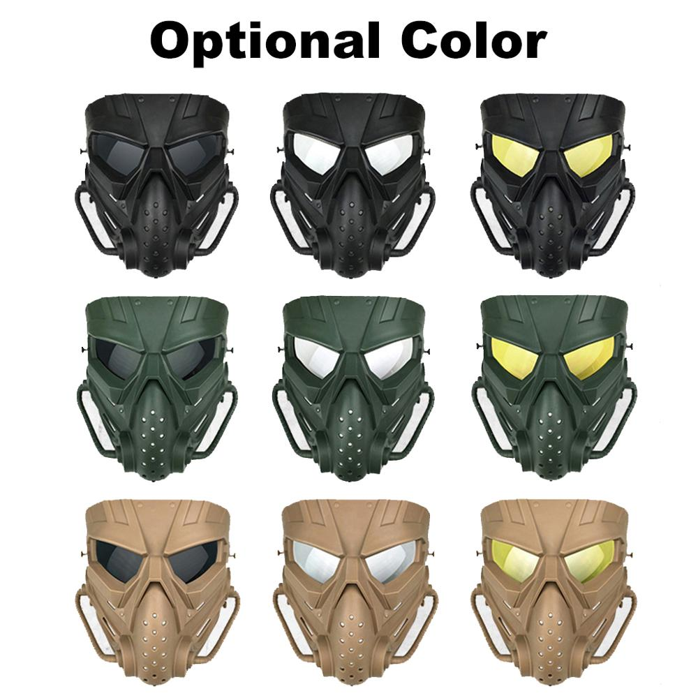 Hot DealsAirsoft Masks Multifunctional PC Len Skull Paintball Games CS Field Mask Hunting Military Tactical Cycling Full Face Protections