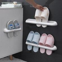 Rack Shelf Towel-Storage Slippers Bathroom-Accessories Wall-Hanging New-Style Simple