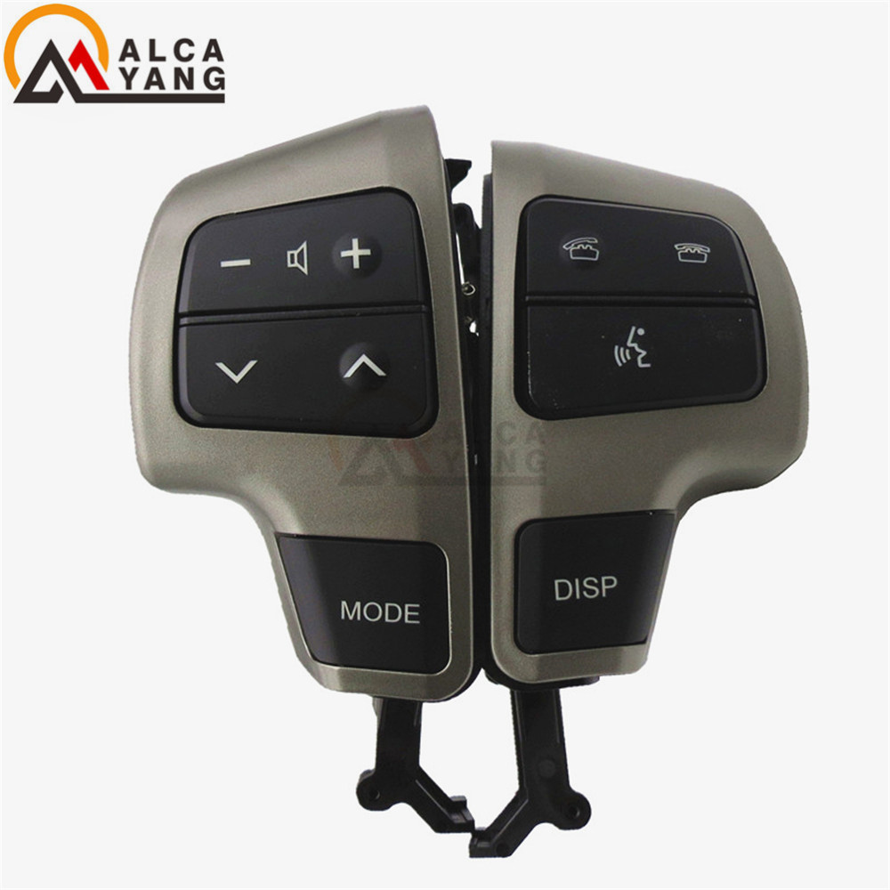 Malcayang 84250-60050-E0 Gray Steering Wheel Audio Control Switch * Button For Toyota LAND CRUISER 200 2008 2009 2010 2011(China)