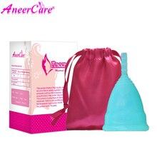 50 sztuk detaliczny menstruacyjny kubek dla kobiet produkt dla kobiet do higieny intymnej klasy medycznej silikonowe pochwy użyj S/L rozmiar do wyboru Anner Cup