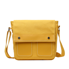 Fashion Shoulder Bag Waterproof Nylon Composite Canvas Small Square Casual Ladies Solid Color Diagonal Cute Shopping