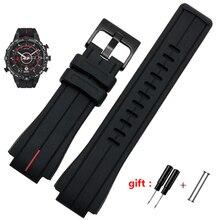 Yüksek miktarda kauçuk kordonlu saat için timex WATCHT2N720 T2N721 TW2T76300 siyah Su Geçirmez silikon spor kayış 28*16mm