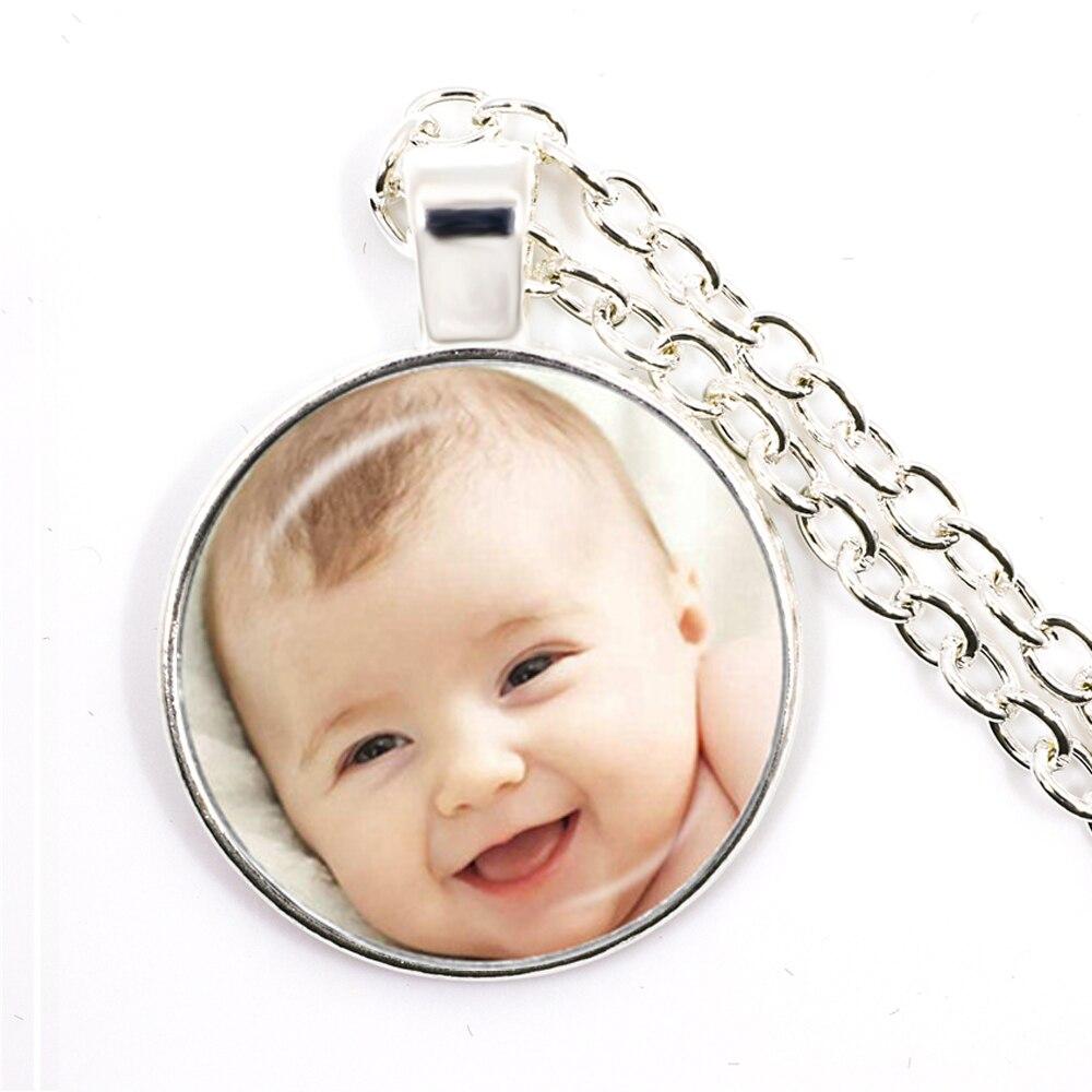 Personalized Custom Necklace Photo Mum Dad Baby Children Grandpa Parents Custom Designed Logo Photo Gift For Family Anniversary