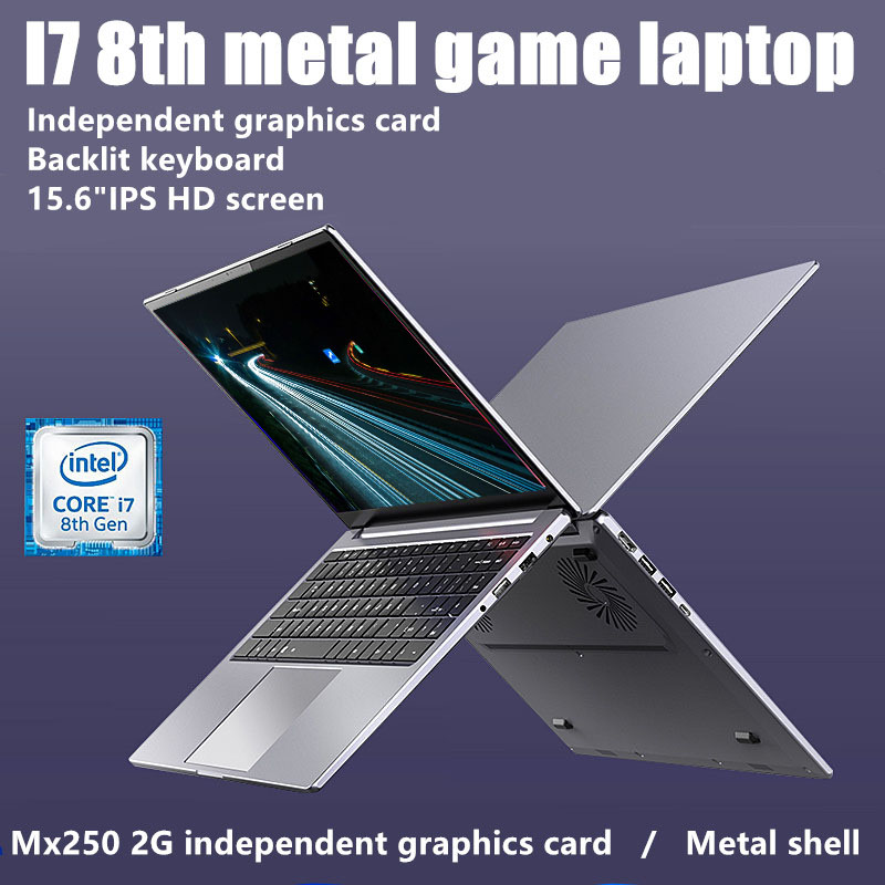 15.5 metal i5-8265 / i7-8565 game laptop ram8g / 16g 128G / 256g / 512g / 1TB SSD With Windows 10 OSultrabook  Webcam Bluetooth