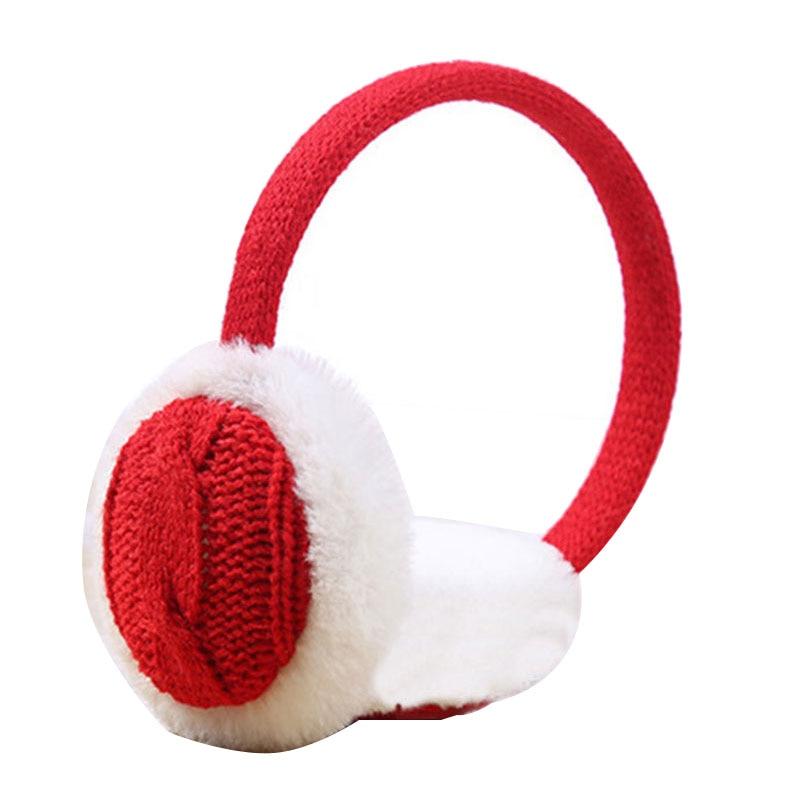 Women Girls Autumn Winter Crochet Knitted Plush Earmuffs Ear Warmer Earflap Ear Cover Unisex Fashion Comfortable Ear Muffs Cover