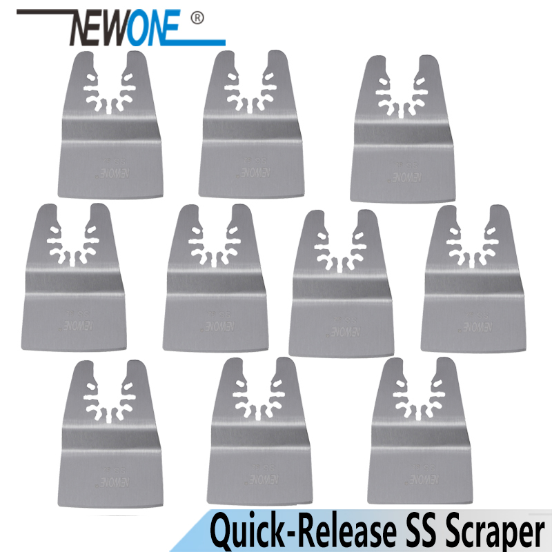NEWONE Quick Release SS Fixed Scraper Oscillating MultiTool   Fit For Dermel,AEG,Fein And Most Brands Of Multi-tool