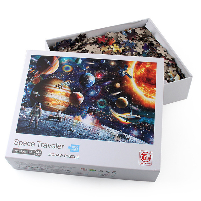 Jigsaw Puzzles 1000 Pieces Wooden Assembling Picture Space Earth World Landscape Puzzles Toys For Adults Children kids Home Game 6