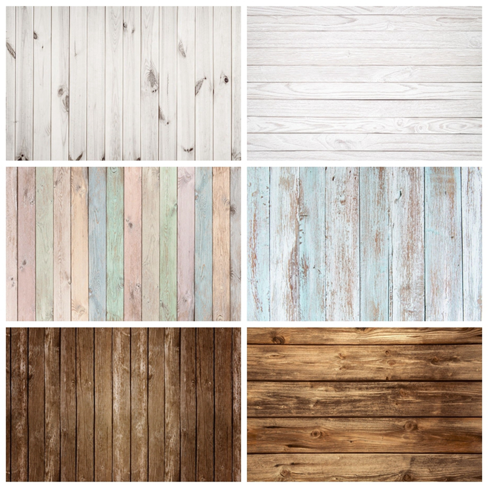 White Wood Board Texture Wooden Floor Newborn Baby Shower Backdrop Photography Background For Photo Studio Photophone Photozone