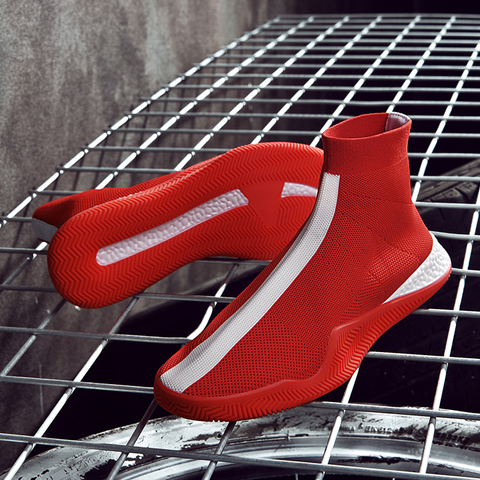 Socks shoes high waist couple high-top shoes white breathable men and women sports shoes tide shoes  casual shoes Islamabad