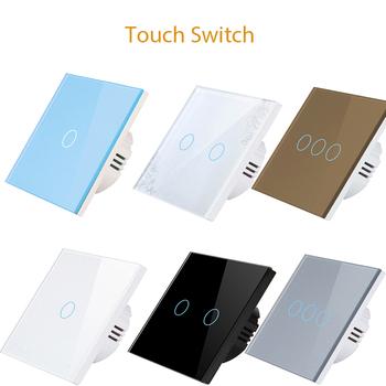 Vrey Standard ue przełącznik dotykowy przełącznik dotykowy przełączniki AC100-220V przełączniki ścienne tanie i dobre opinie CN (pochodzenie) ROHS Intelligent Light Touch Switch Z tworzywa sztucznego PRZEŁĄCZNIKI VR-TS-01 02 03 Dotykowy wyłącznik