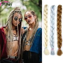 BUQI Jumbo Synthetic Women's Weaving Hair Extensions 165 g/Pack Crochet Blue Red