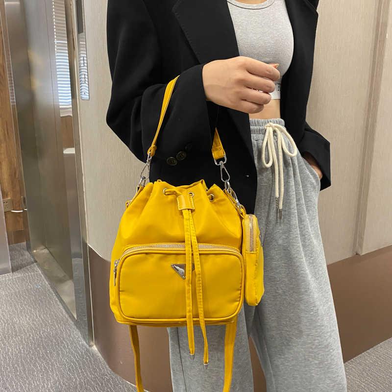 Fashion Women Messenger Tassel Shoulder Bags Casual Drawstring Crossbody Handbag