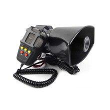 Klaxon de voiture haut-parleur multifonction, sirène de Police, klaxon à Air, mégaphone, alarme d'urgence pour moto, 12V, 100W, multi-tons