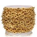 1 метр из нержавеющей стали золотые Rolo Кабельные цепи плоская проволока шикарная 3:1 цепь подходит для DIY ювелирных изделий поставки оптом мн...