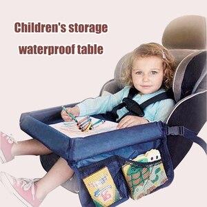 Image 3 - Bébé siège de voiture plateau poussette enfants jouet nourriture eau support bureau enfants Portable Table pour voiture nouveau enfant Table stockage voyage jouer