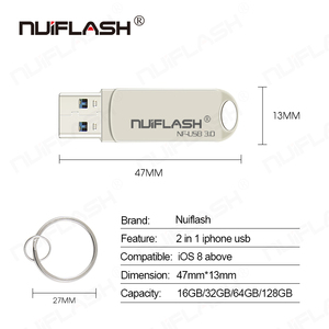 Image 5 - Usb Flash Drive Pendrive Voor Iphone 6/6 S/6 Plus/7/7 Plus/8 /X Usb/Otg/Lightning 2 In 1 Pen Drive Voor Ios Externe Opslagapparaten
