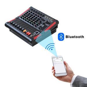 Image 3 - MINI6 P 6 kanałów moc konsola miksująca wzmacniacz Bluetooth rekord 99 efekt DSP 2x170W profesjonalne usb mikser audio