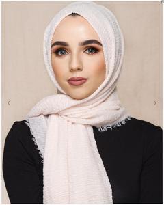 Image 4 - 2020 Phụ Nữ Hồi Giáo Chai Sần Hijab Khăn Chắc Chắn Đầu Bông Khăn Turban Khăn Choàng Len Femme Muslimani Kopftuch 90 Màu 10 Cái/lốc