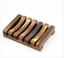 Soap Holder Dish Bathroom Shower Storage Support Plate Stand Wood Box Natural Soap Dishes S08 Drop ship(China)