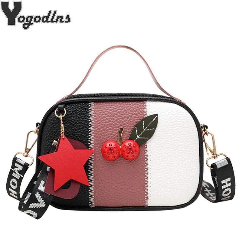 Sacs à main à sangle de luxe pour femmes, petits sacs, sac à bandoulière Messenger, célèbre marque, sacs Design Cherry 2020