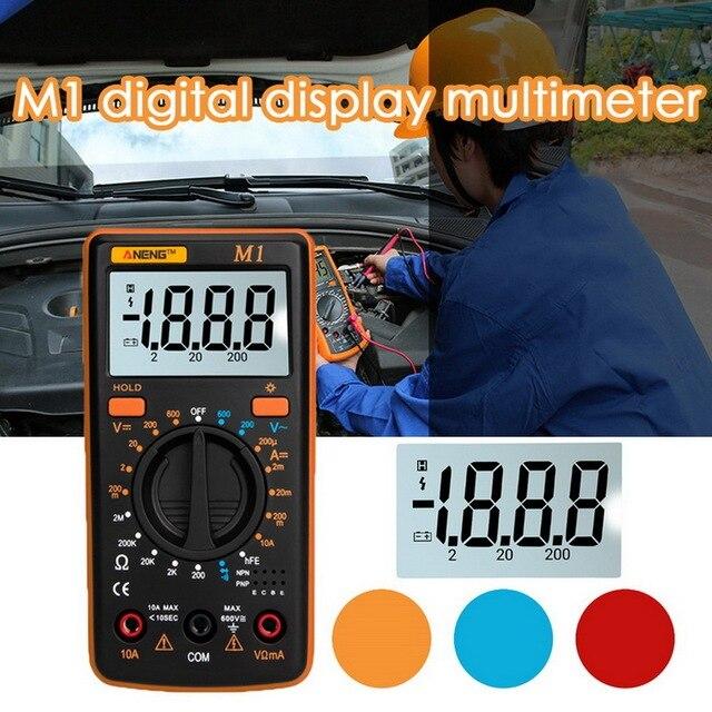 M1 multimètre numérique, testeur professionnel de rétroéclairage, Buzzer Diode AC/DC, multimètre A830L/830L, Portable