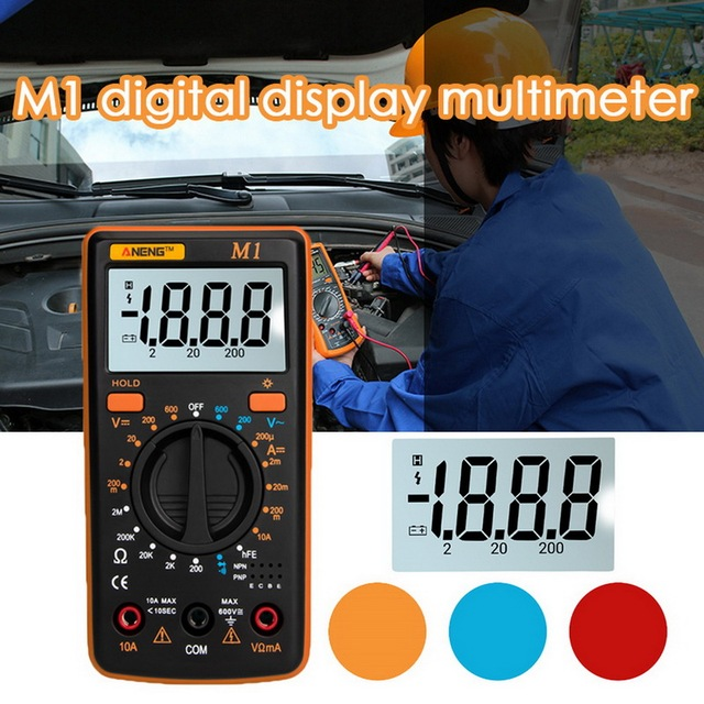 Multímetro Digital M1, probador de retroiluminación, multímetro profesional, diodo de zumbador, triodo, CA/CC, A830L/830L, portátil