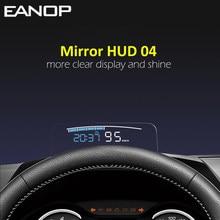 EANOP – miroir de voiture HUD 04, affichage tête haute, pare-brise, vitesse du projecteur, alarme de sécurité, température de l'eau, survitesse RPM, tension, OBD2