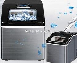 Máquina de hielo comercial tienda de té pequeño mini cuadrado de hielo 25kg máquina de Fabricación de hielo automática para el hogar