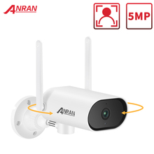 ANRAN 5MP Wireless Pan Tilt Camera Human Detection Tracking Camera Surveillance Security Camera Wifi Outdoor Camera