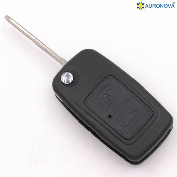 AURONOVA for Chery A1 A5 Cowin E5 Easter Fulwin Tiggo Car Key 2 Button Replace Remote Car Fob Key Shell Case Cover With Logo image