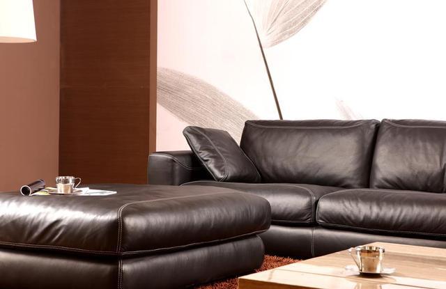 Genuine Leather L Shaped Corner Sofa 2