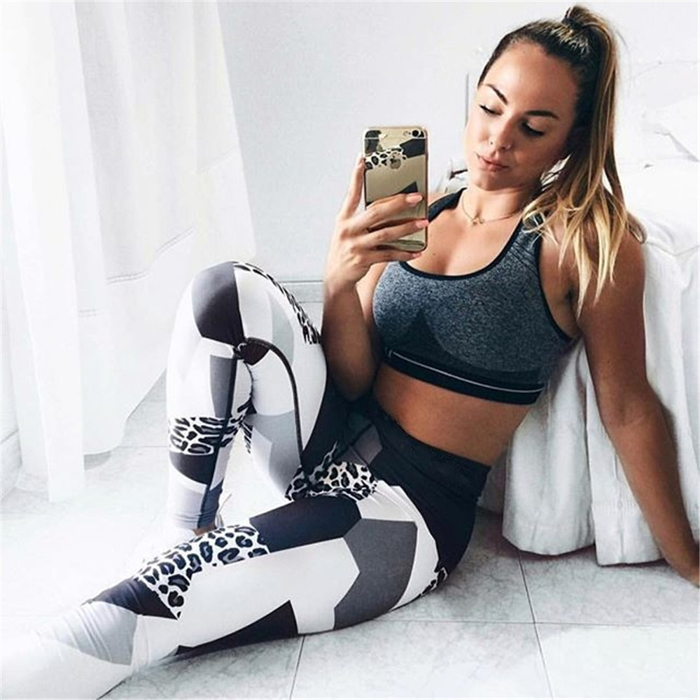 UGUPGRADE Sexy Fitness Yoga Sport Pants Push Up Women Gym Running Leggings Jegging Tights High Waist print Pant Joggers Trousers