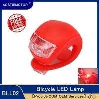 AOSTIRMOTOR Led 자전거 조명 실리콘 자전거 라이트 방수 헤드 전면 후면 휠 LED 플래시 램프 사이클링 경고등 자전거용 등 스포츠 & 엔터테인먼트 -