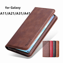 AZNS Case for Samsung Galaxy A11 A21 A21s A31 A41 A51 A71 4G 5G A81 A91 A70s PU Leather Cover magnetic attraction Wallet Case