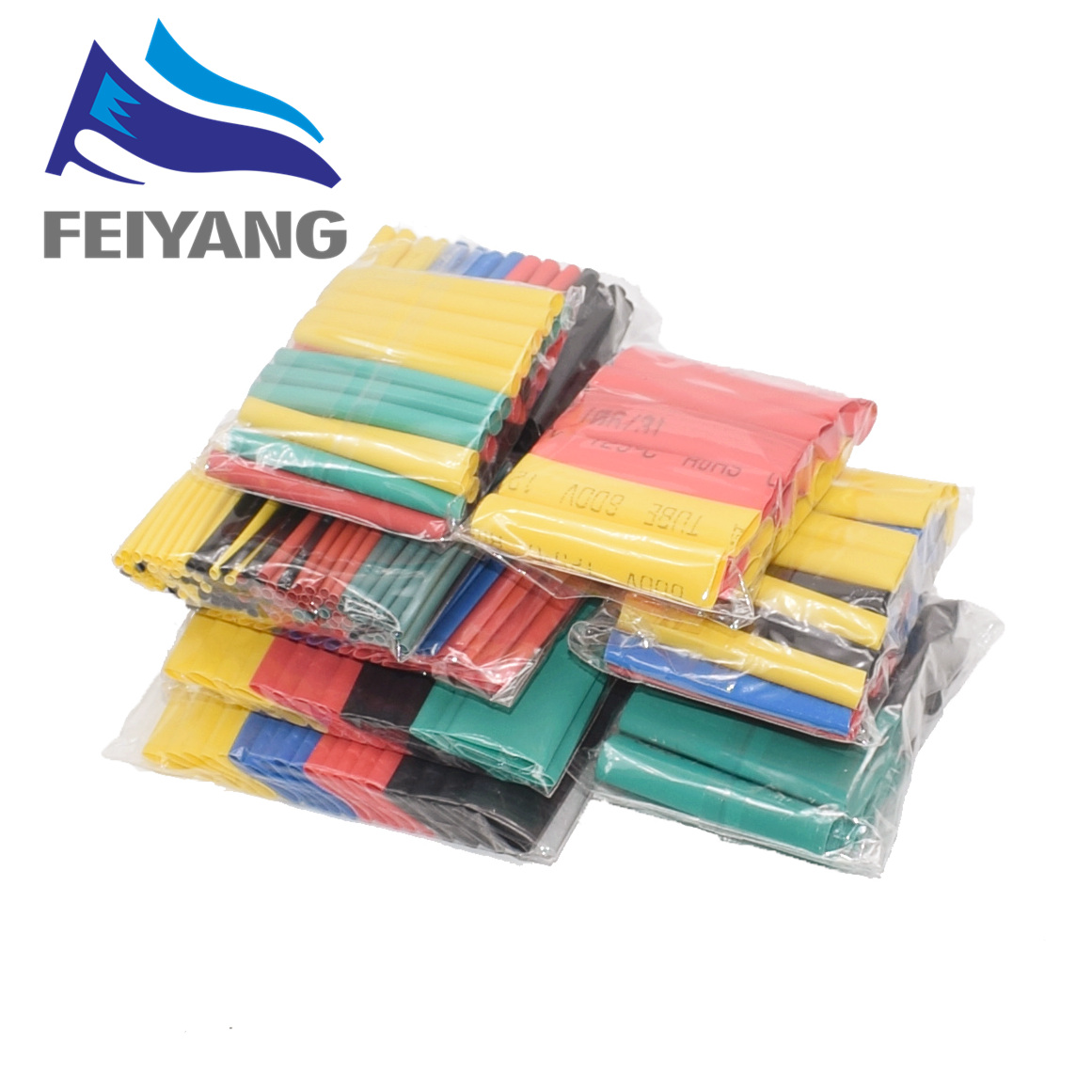 Image 3 - 328Pcs/set Sleeving Wrap Wire Car Electrical Cable Tube kits Heat Shrink Tube Tubing Polyolefin 8 Sizes Mixed Color-in Integrated Circuits from Electronic Components & Supplies