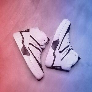 Image 5 - men shoes  mens shoes casual  man shoes leather genuine  sneakers men Canvas shoes walking shoes high top shoesLace up shoes