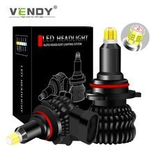 2pcs Car Headlight Bulb H1 H3 H7 H8 H11 H9 HB3 9005 HB4 9006 9012 LED Fog Light For renault megane 2 3 duster lada vesta granta