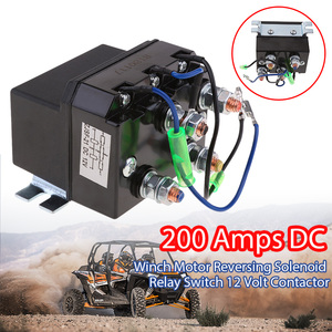 DC 12V Heavy Duty Winch Solenoid Relay Upgrade 200A Recovery Larger Contact Faces/Faster Contact Closure For ATV Quad UTV(China)