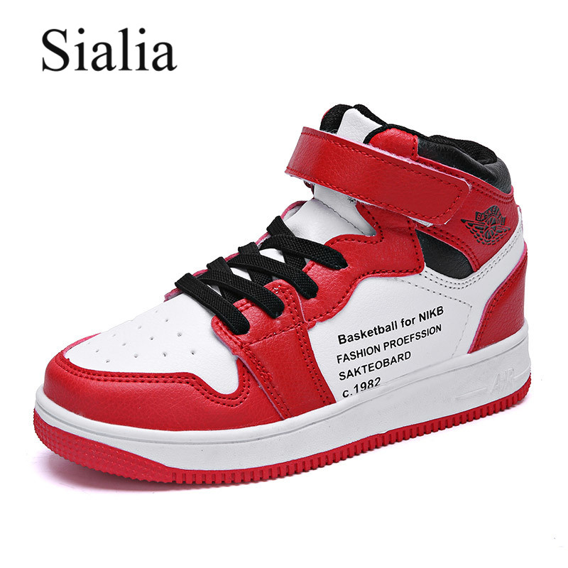 Sialia Kids Sneakers For Children Casual Shoes Boys Sneakers Girls Shoes Basketball Fashion Hook&Loop Trainers Sport Footwear