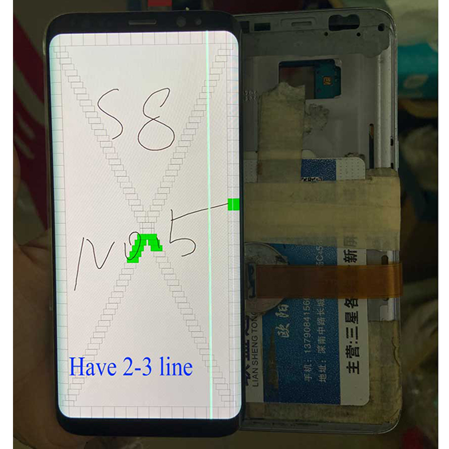 For <font><b>Samsung</b></font> S8 LCD <font><b>Display</b></font> Touch <font><b>G950</b></font> G955 LCD <font><b>Display</b></font> For <font><b>Samsung</b></font> S8 LCD Band Line <font><b>Display</b></font> Mobile Phone Defective Screen image