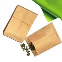 Sac de graines en papier Kraft Vintage, 100 pièces, pochette épaissie, sac de graines, sac en papier Kraft, fournitures d'emballage de pâtisserie, boîte à colle